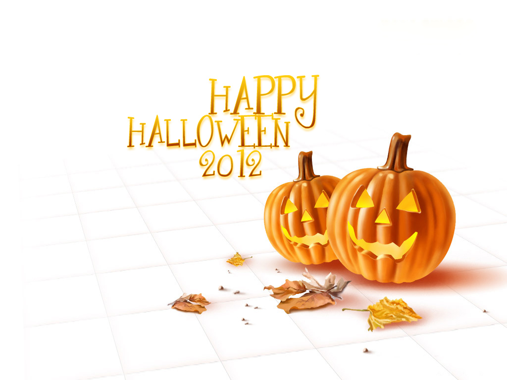 Happy Halloween 2012 Pumpkins HD Wallpaper