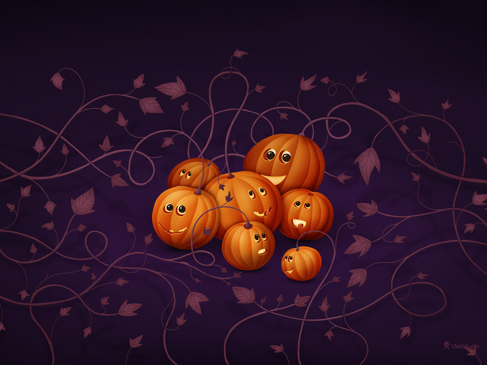 Happy Halloween Happy Pumpkins 2012 Desktop Background. Image Credit:  Vladstudio · Happy_Halloween_Happy Pumkins 2012 HD Wallpaper