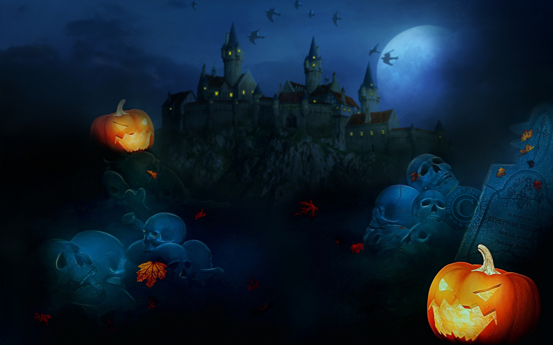 home of halloween hd wallpaper
