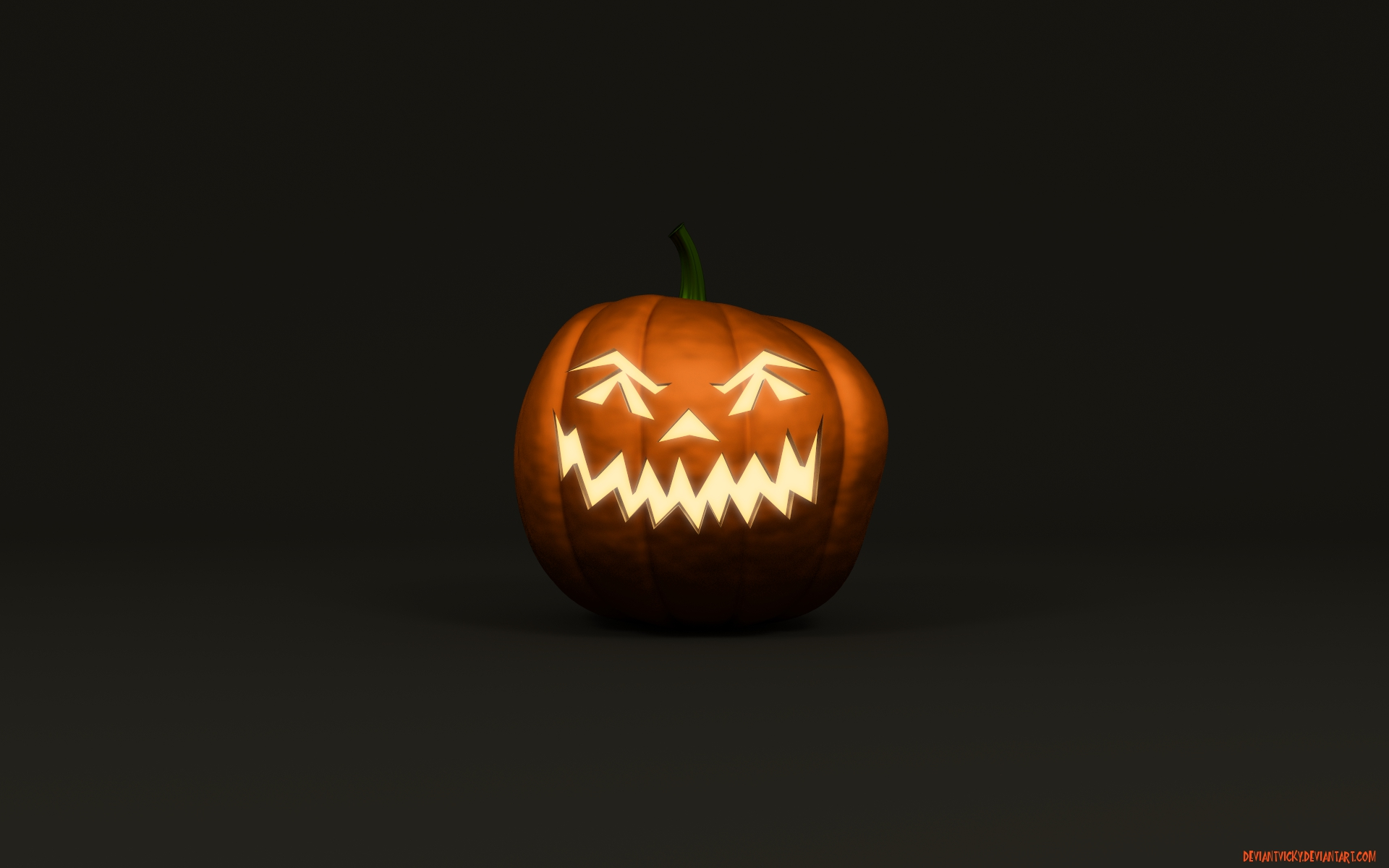 Scary 2012 Halloween Pumpkin HD Wallpaper