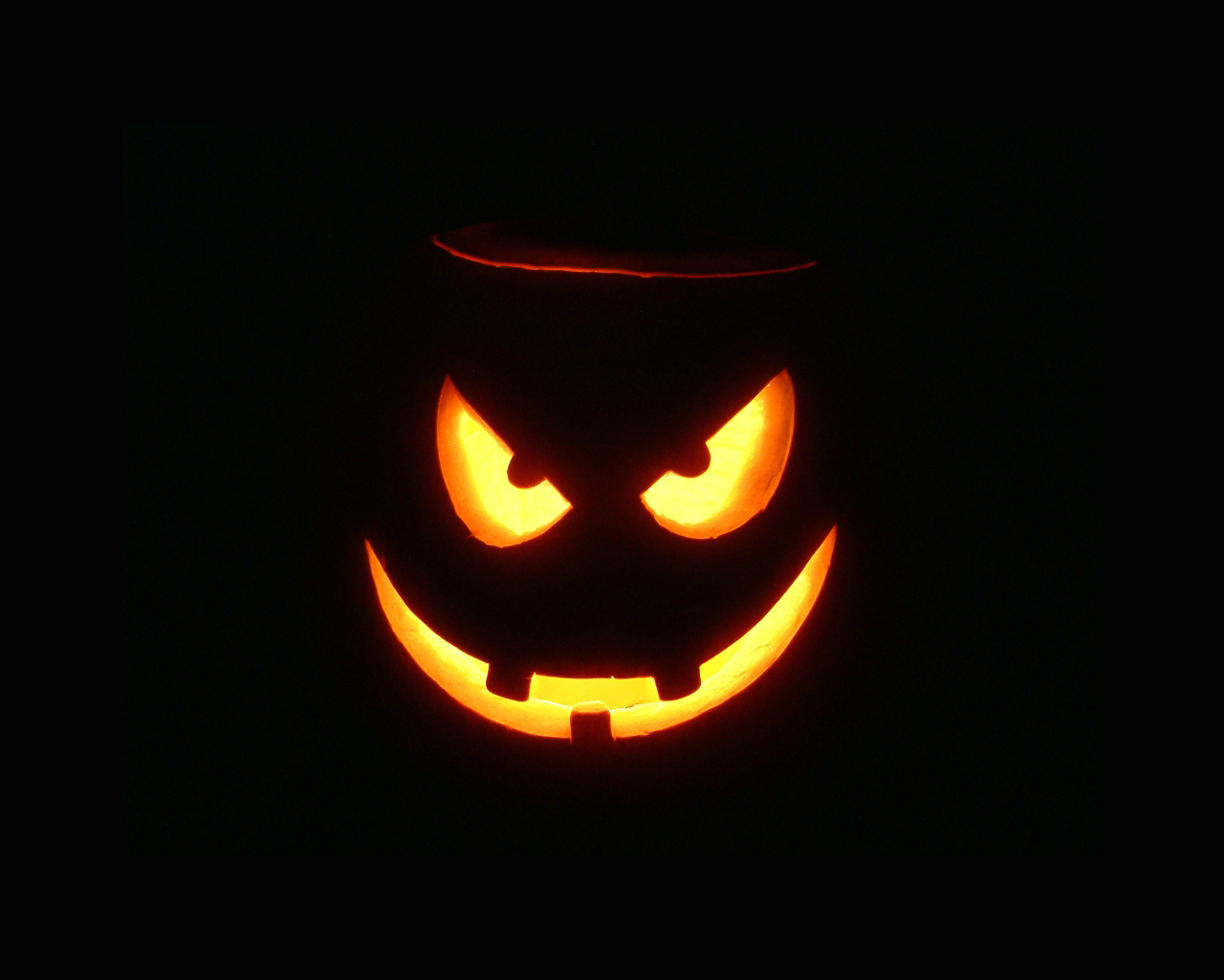 Scary Halloween Pumpkin Wallpaper