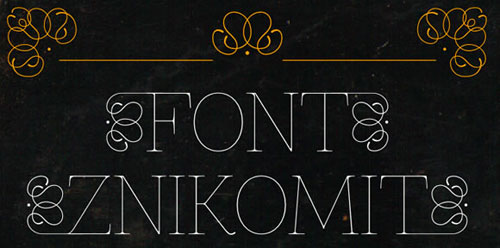 Znikomit-New-Best-Beautiful-Free-Fonts-2012