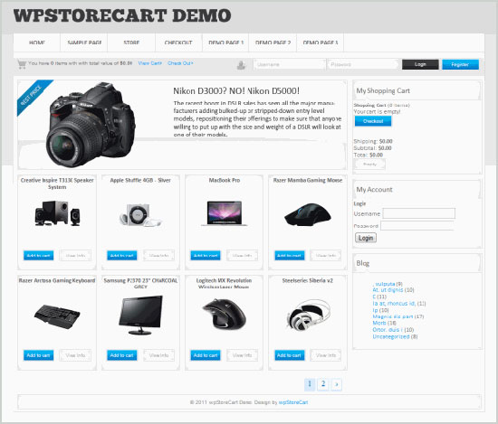 Best & Latest Free & Premium WordPress E-Commerce Themes of Oct 2012