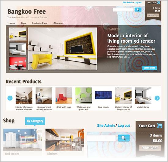 Astounding Best Latest Free Premium Wordpress E Commerce Themes Of Oct 2012 Inspirational Interior Design Netriciaus