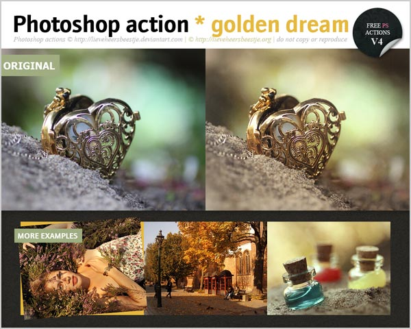 Free Golden Dream Photoshop Action 30 High Quality Free Photoshop Actions For Amazing Photo Effects