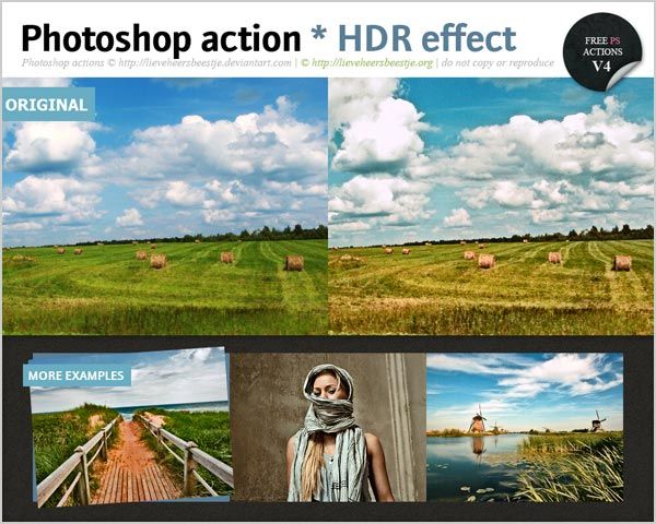 Free HDR Photoshop Action 30 High Quality Free Photoshop Actions For Amazing Photo Effects