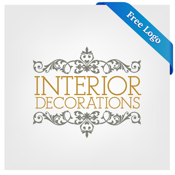 Free vector interior decorations logo download in ai for Interior design logo ideas