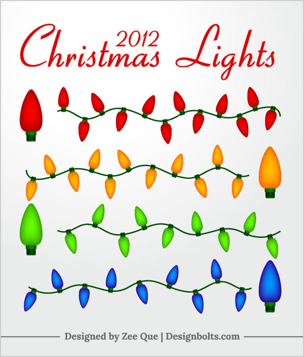 Free-Vector-Mini-Christmas-Lights
