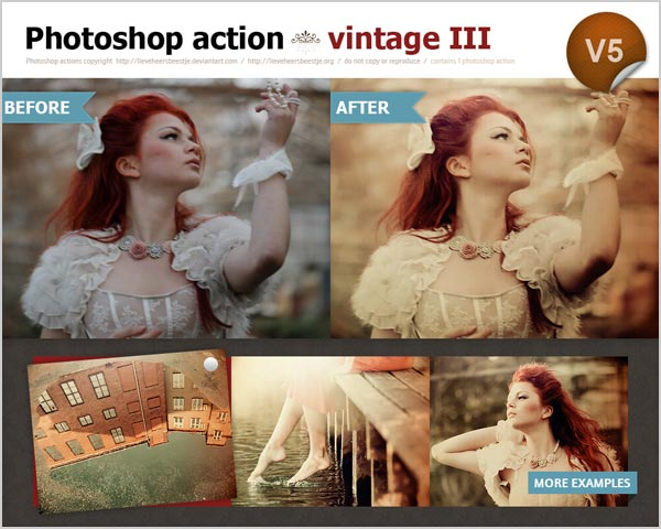 Free Vintage Photoshop Action For Photographers 30 High Quality Free Photoshop Actions For Amazing Photo Effects