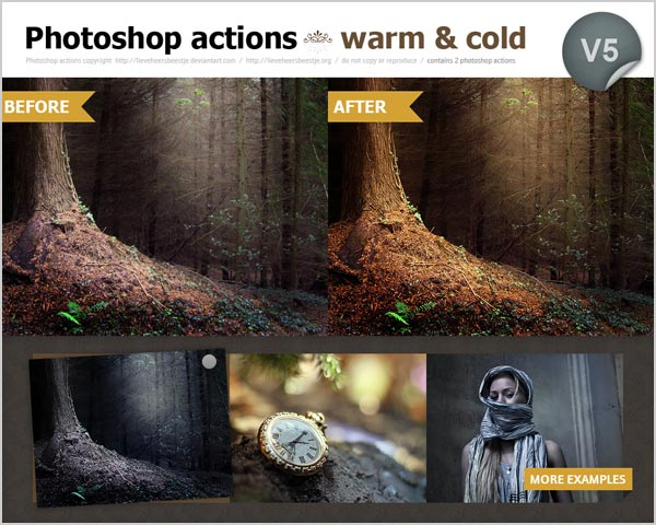 Free Warm Cold photoshop actions 30 High Quality Free Photoshop Actions For Amazing Photo Effects