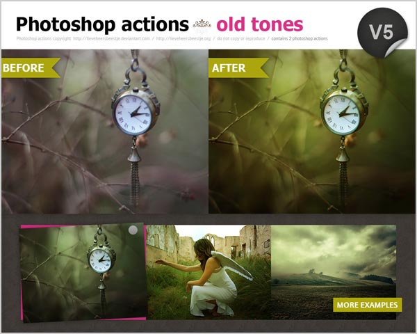Free old tones photoshop  actions 30 High Quality Free Photoshop Actions For Amazing Photo Effects