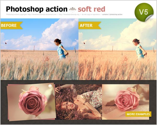 Free photoshop soft red actions 30 High Quality Free Photoshop Actions For Amazing Photo Effects
