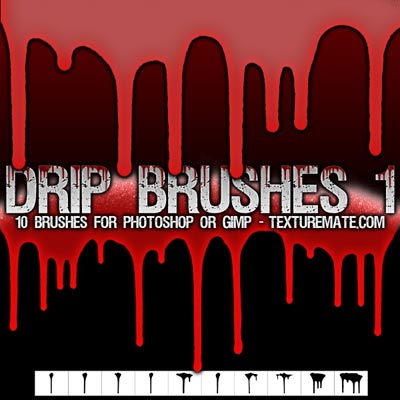 Free_Drip-Photoshop-Brushes