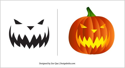 Halloween Free Scary Pumpkin Carving Patterns    Scary