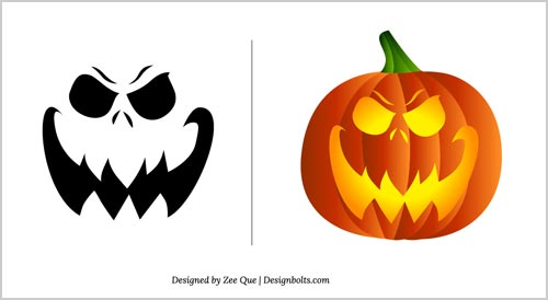 Halloween free scary pumpkin carving patterns