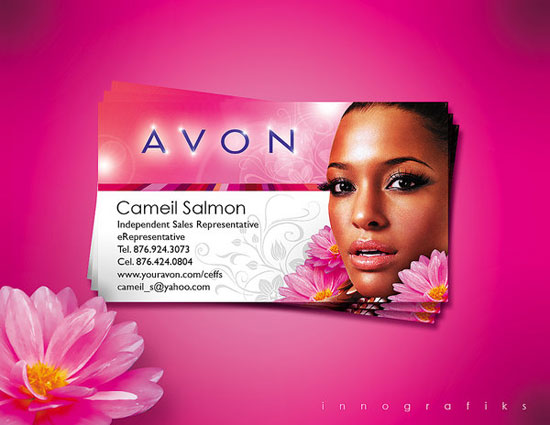 AVON_Beautiful-Business_Card-with-graphic-images