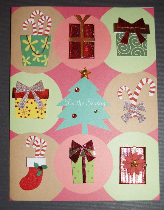 20 beautiful diy homemade christmas card ideas for 2012 beautiful handmade 2012 christmas card idea m4hsunfo