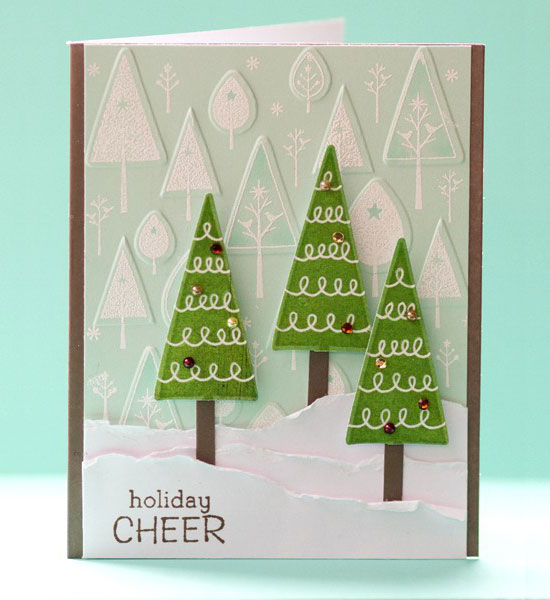 20 beautiful diy  homemade christmas card ideas for 2012