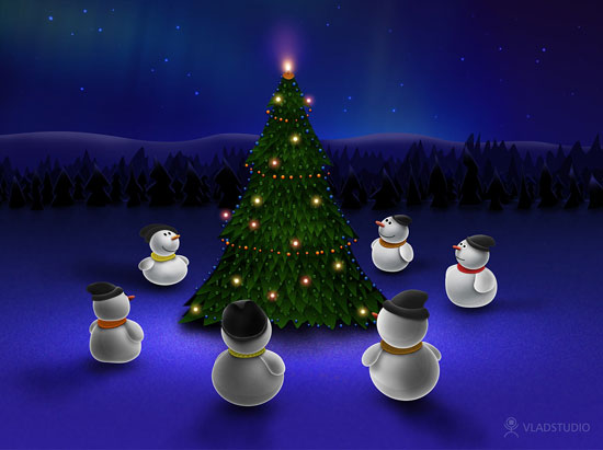 Beautiful-christmas_tree_wallpaper-2012-snowman
