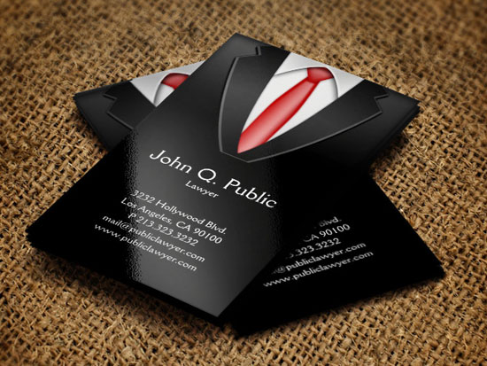 Top Important Things To Add In Business Cards - Lawyer business card template