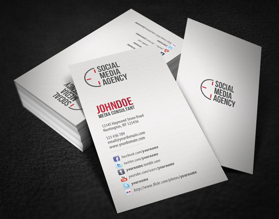 Business-card-design-with-Social-Media-Profile-Links