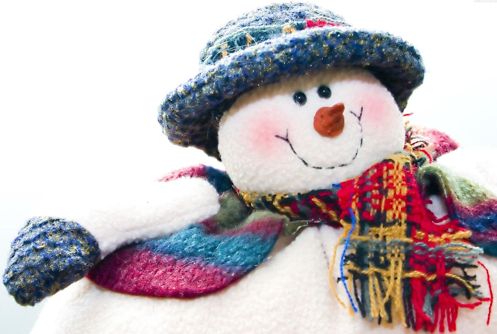 Christmas Snow Man HD Wallpaper