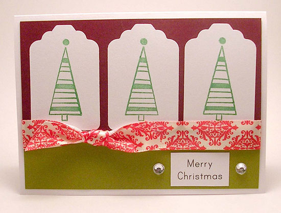 20 beautiful diy homemade christmas card ideas for 2012 cute christmas tree 2012 card design idea m4hsunfo