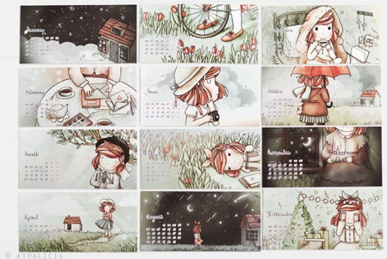 Cute-colorful-illustrated-2013-calendar-design-2