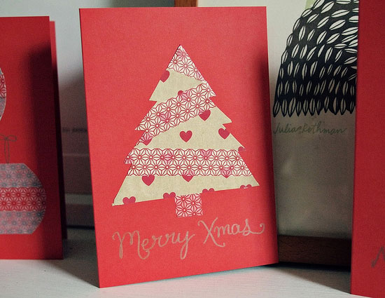 20 beautiful diy homemade christmas card ideas for 2012 easy diy christmas 2012 card design idea m4hsunfo