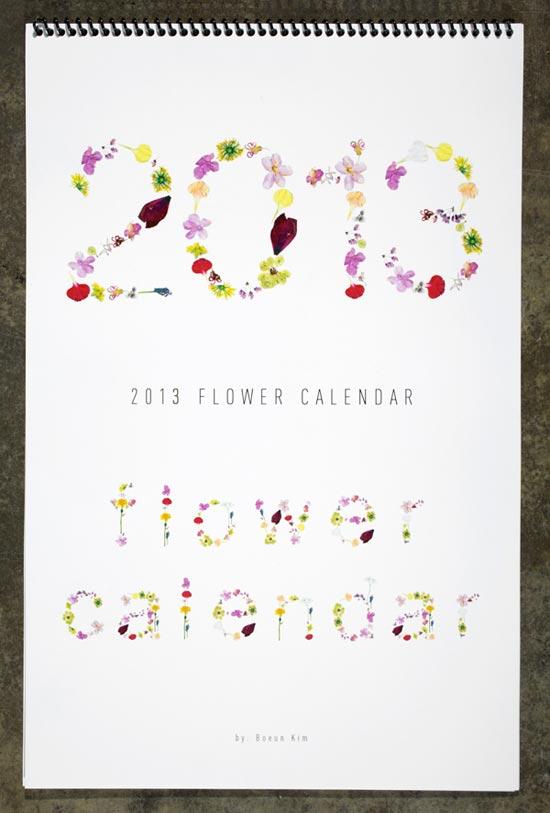 Flower-Calendar-2013-design