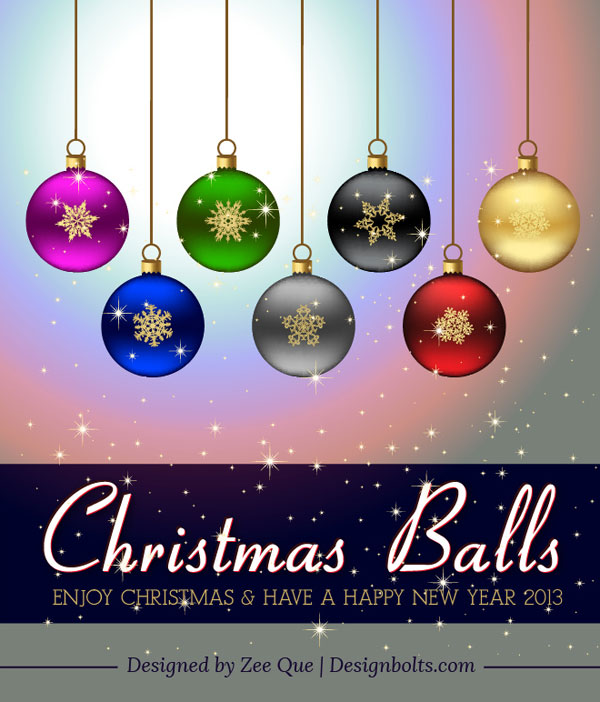 Free-Christmas-Printables -Colorful-Hanging-Christmas-Balls-Decoration
