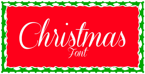Christmas writing fonts images