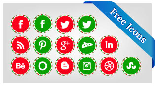 Free-Christmas-Social-Media-Icons-set