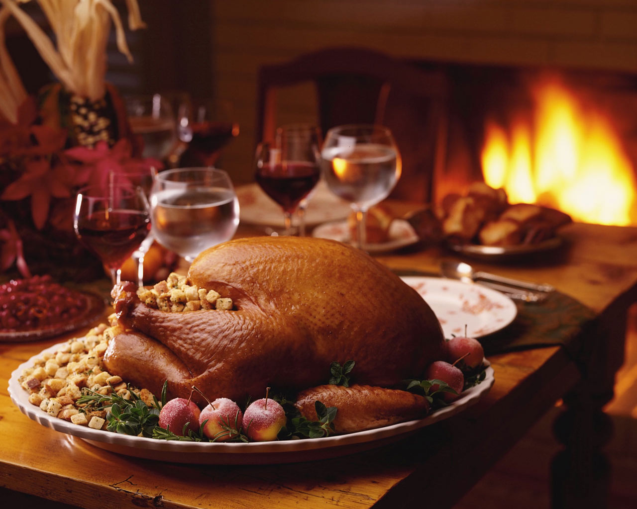 Free Thanksgiving Dinner Table Wallpaper Download The Wallpaper
