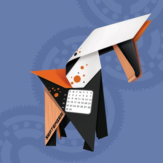 Origami-2013-Calendar-design