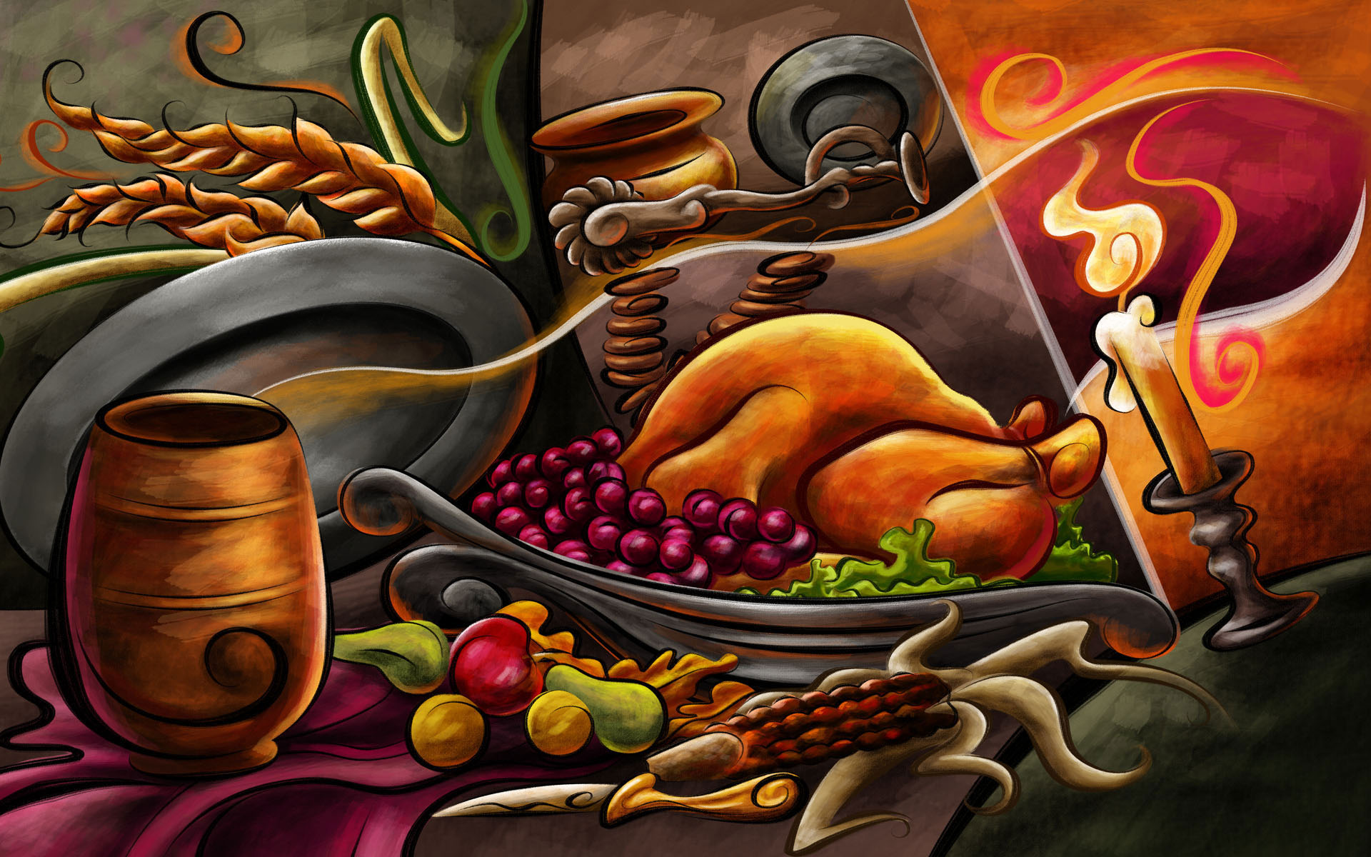 Thanksgiving Dinner Image  Holiday 2012 Wallpaper
