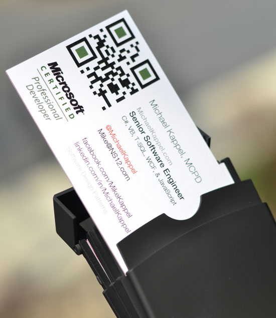 Top 6 important things to add in business cards qr code business card design with social profiles reheart Gallery