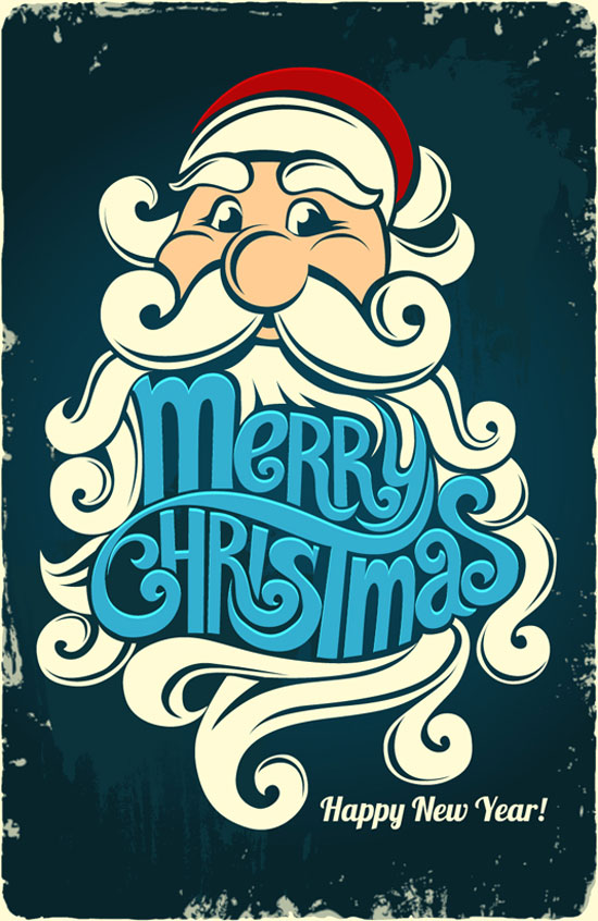 Beautiful-typography-merry-Christmas-&-happy-new-year-2013-card