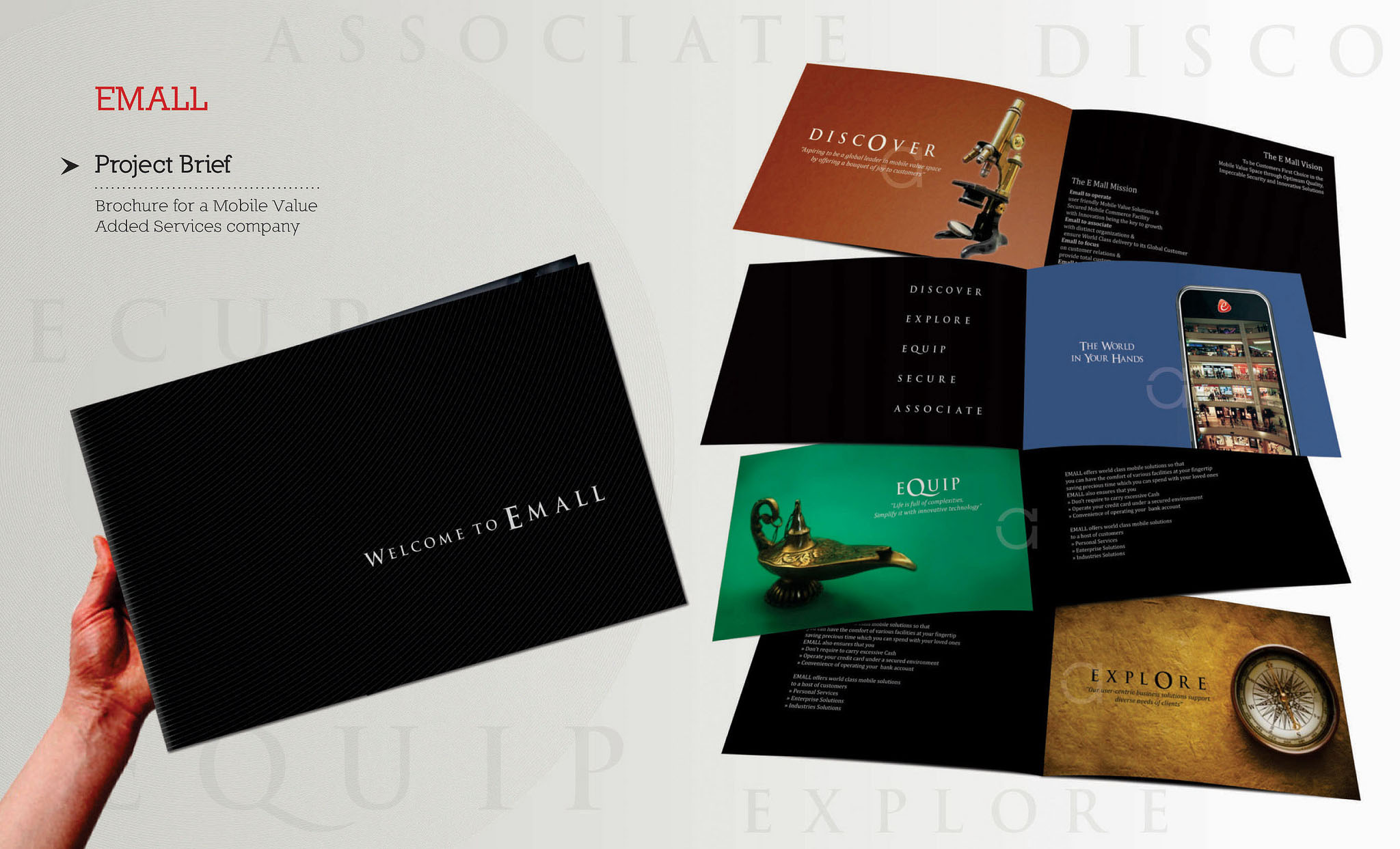 brochure design for mobile value added company - Booklet Design Ideas
