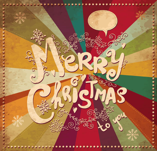 Colorful-Vintage-vector-Christmas-card