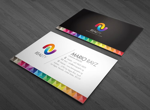 Colorful business card design Steps Which Help You To Design Memorable Business Cards