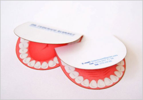 Dentist Unique business card design Steps Which Help You To Design Memorable Business Cards