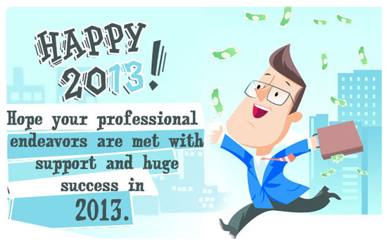 happy new year 2013 wishes business greetings