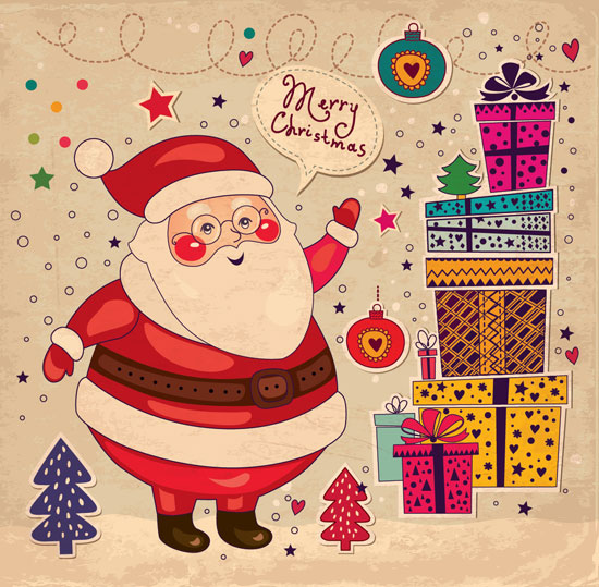 Merry-christmas-by-santa-card-design
