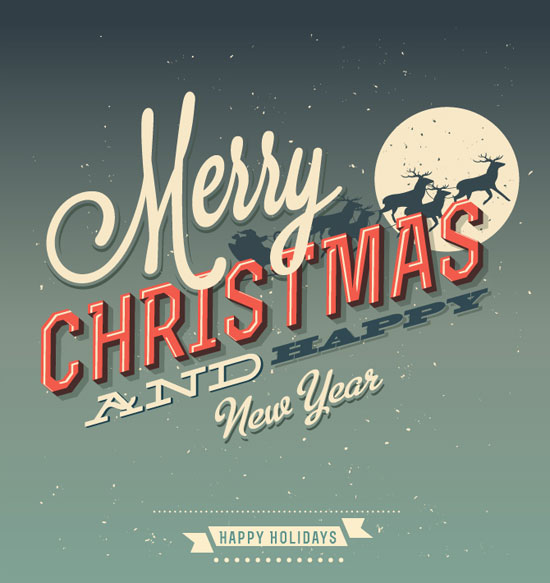 Vintage-Vector--merry-christmas-card-design