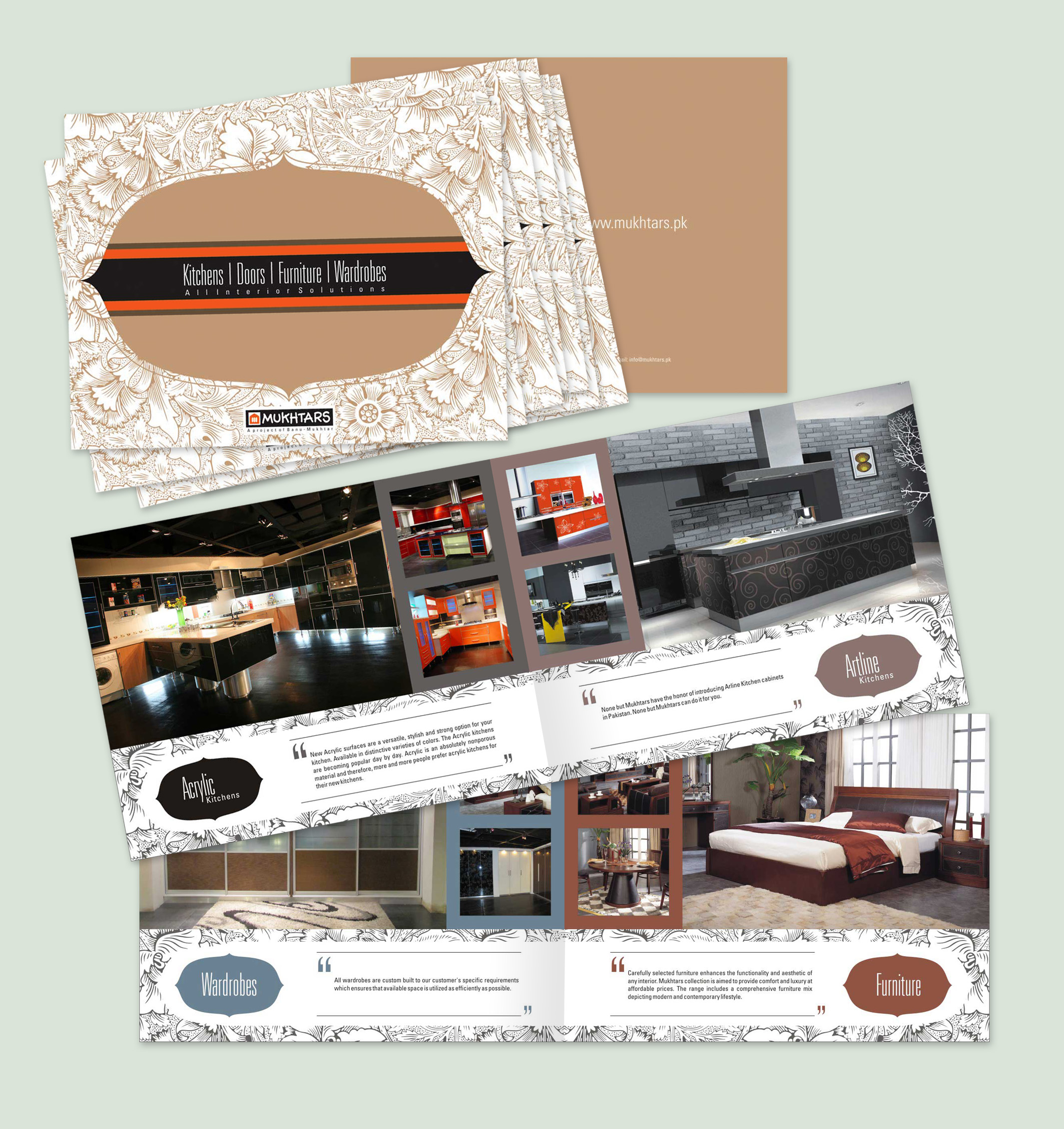 Mukhtars Interior Product Brochure Design