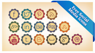 20-Free-Retro-Style-Social-Media-Icons-Set-For-Preety-&-Girly-Blogs