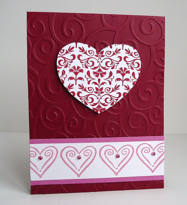 Birthday Greeting Card Making Ideas Part - 46: Beautiful-Heart-Shape-Handmade-Valentine-Card-idea