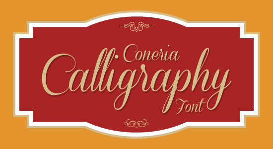Coneria Best Beautiful Calligraphy Font 2013 Top 20 Best & Beautiful Free Calligraphy Fonts For Your 2013 Projects