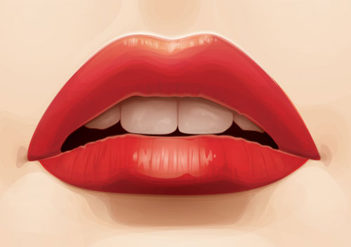 Designing-Lips-in-Illustrator-CS6-from-Stock-Image